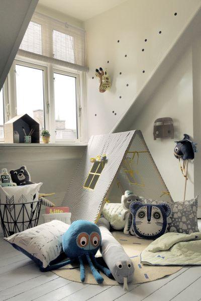 Indiánsky stan v detskej izbe