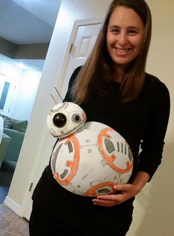 Halloweensky kostým pre tehuľky BB-8