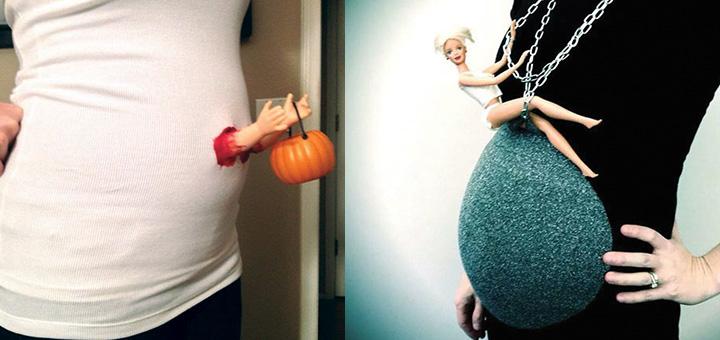 Tehotenstvo kreatívne kostýmy na Halloween