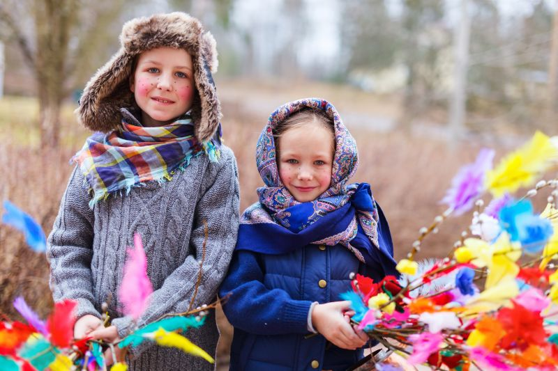 Fínske deti prezlečené za čarodejnice