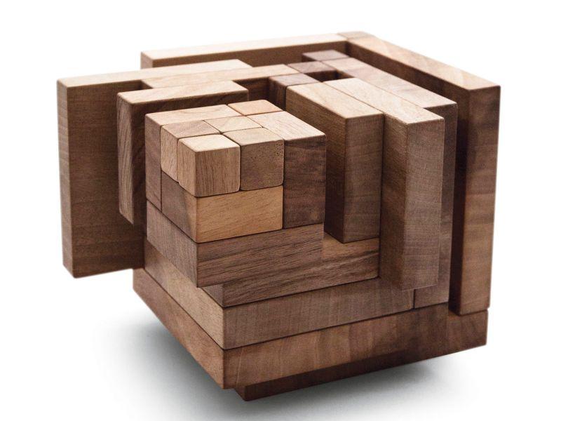 Drevené didaktická kocka pre deti
