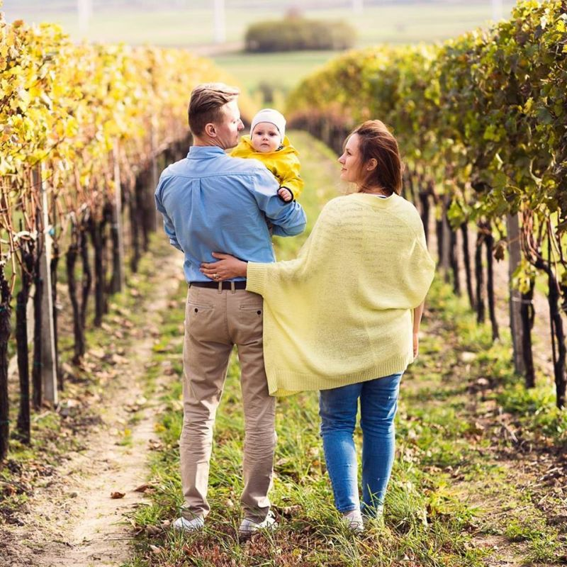 Fotenie s rodinou vo vinohradoch